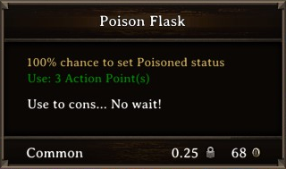 DOS Items Pots Poison Flask 1 Stats