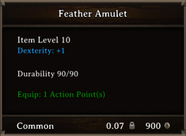 DOS Items CFTX 10.5 Feather Amulet