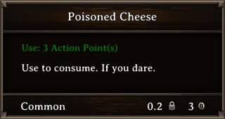 DOS Items Food Poisoned Cheese Stats