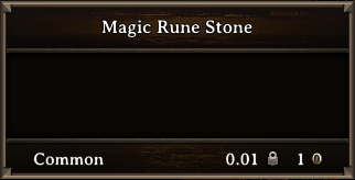 DOS Items Quest Magic Rune Stone