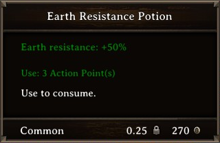 DOS Items Pots Earth Resistance Potion 3 Stats