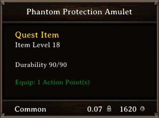 DOS Items Quest Phantom Protection Amulet Stats