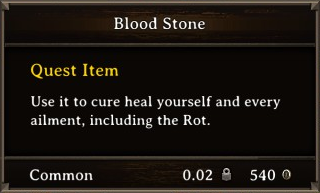 DOS Items Quest Blood Stone Stats