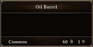 DOS Items CFT Oil Barrel Stats
