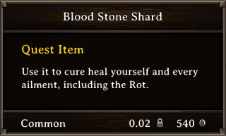 DOS Items Quest Blood Stone Shard Stats