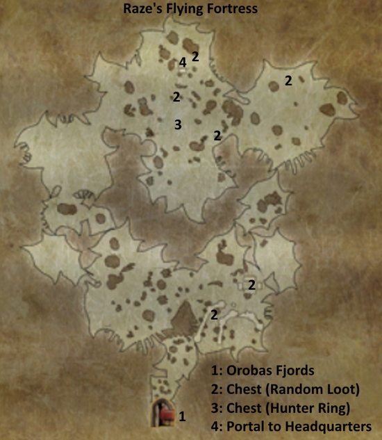 Divinity 2 Raze's Flying Fortress map