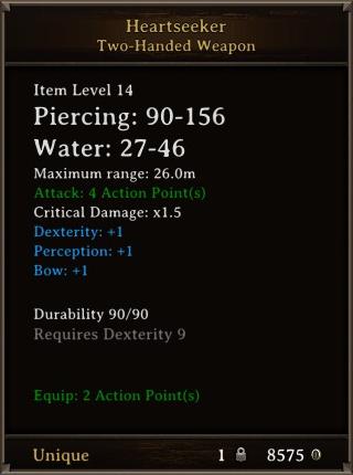 DOS Items Unique Heartseeker Stats