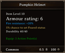DOS Items CFTX 10.5 Pumpkin Helmet