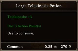 DOS Items Pots Large Telekinesis Potion Stats