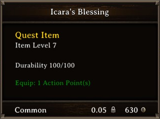 DOS Items Quest Icara's Blessing Stats