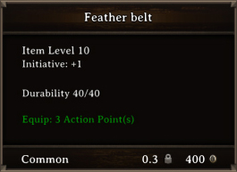 DOS Items CFTX 10.5 Feather Belt