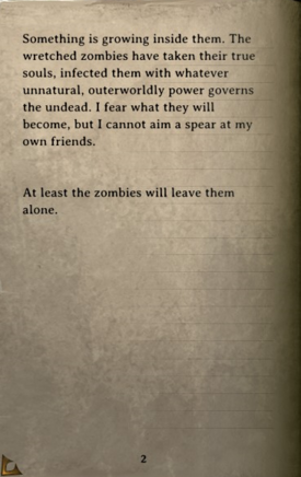 DOS Items Books Diary (zombie dogs) Page2