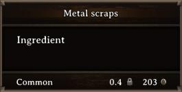 DOS Items CFT Metal Scraps