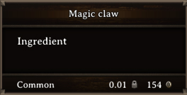 DOS Items CFT Magic Claw