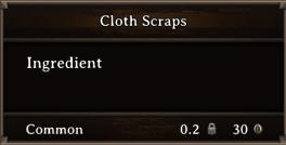 DOS Items CFT Cloth Scraps