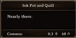 DOS Items Tools Ink Pot and Quill