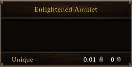 DOS Items Unique Enlightened Amulet