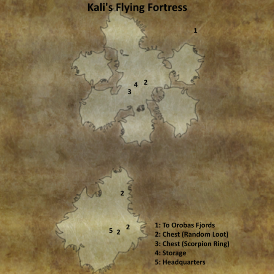 Divinity 2 Kali's Flying Fortress map