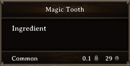 DOS Items CFT Magic Tooth (Tusk)