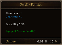 DOS Items Unique Smelly Panties