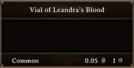 DOS Items Quest Vial Of Leandra's Blood