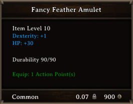 DOS Items CFTX 10.5 Fancy Feather Amulet
