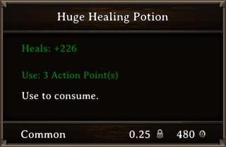 DOS Items Pots Huge Healing Potion Stats