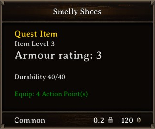 DOS Items Quest Smelly Shoes Stats
