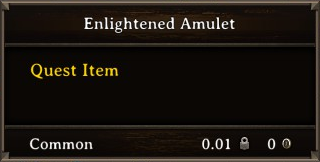 DOS Items Quest Enlightened Amulet Stats