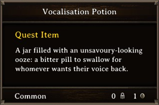 DOS Items Quest Vocalisation Potion Stats
