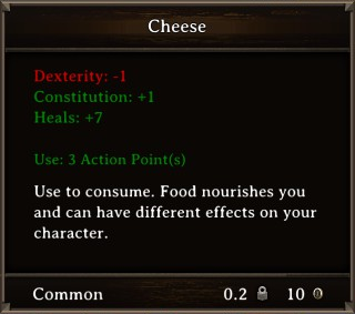 DOS Items Food Cheese Stats