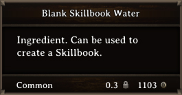 DOS Items Scrolls Blank Skillbook Water