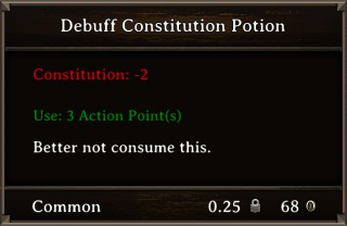 DOS Items Pots Debuff Constitution Potion Stats