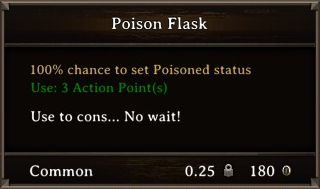 DOS Items Pots Poison Flask 2 Stats