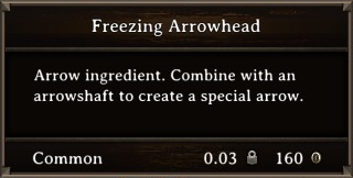 DOS Items CFT Freezing Arrowhead Stats