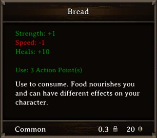 DOS Items Food Bread Stats