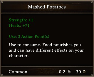 DOS Items Food Mashed Potatoes Stats