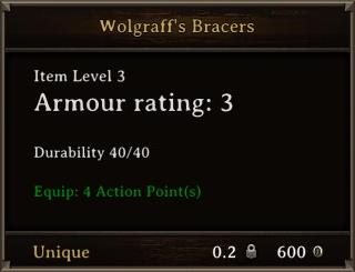 DOS Items Unique Wolgraff's Bracers Stats