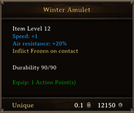 DOS Items Unique Winter Amulet