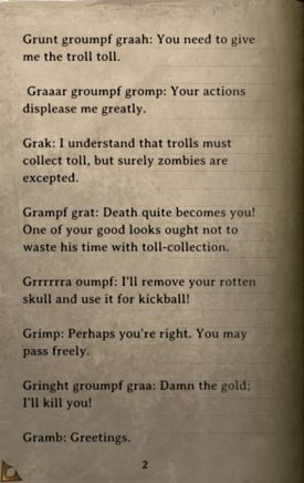 DOS Items Books How to speak Troll, Zombie Edition Page2