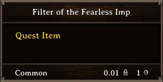 DOS Items Quest Filter of the Fearless Imp Stats