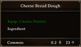 DOS Items FnD Cheese Bread Dough