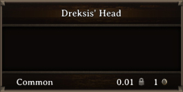 DOS Items Quest Dreksis' Head