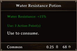 DOS Items Pots Water Resistance Potion