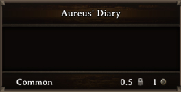 DOS Items Quest Aureus' Diary