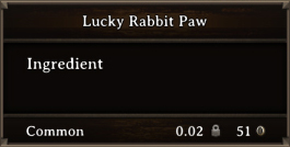 DOS Items CFT Lucky Rabbit Paw