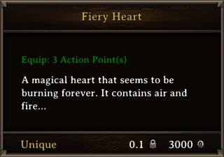DOS Items Unique Fiery Heart Stats