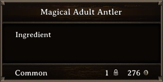 DOS Items CFT Magical Adult Antler Stats