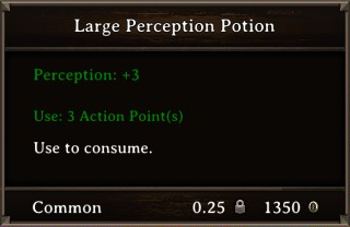 DOS Items Pots Large Perception Potion Stats