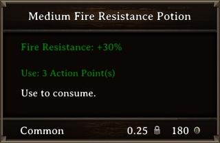 DOS Items Pots Fire Resistance Potion 1 Stats